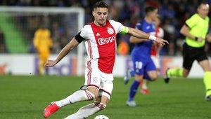 El capitán del Ajax, Dusan Tadic, en el partido de ayer frente al Getafe