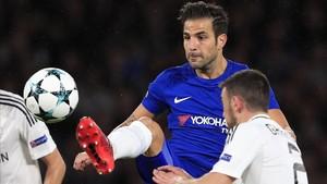 Cesc Fábregas, en un partido con la camiseta del Chelsea