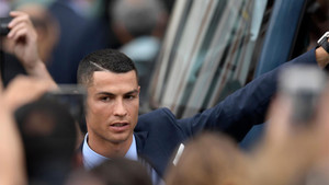Cristiano Ronaldo, durante las celebraciones de la Champions 2017/18 del Real Madrid