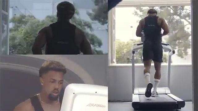 El curioso entrenamiento de Adama Traoré antes del partido del Espanyol