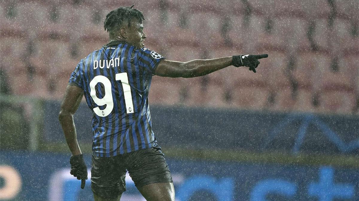 Duván Zapata abrió el marcador ante el Midtjylland