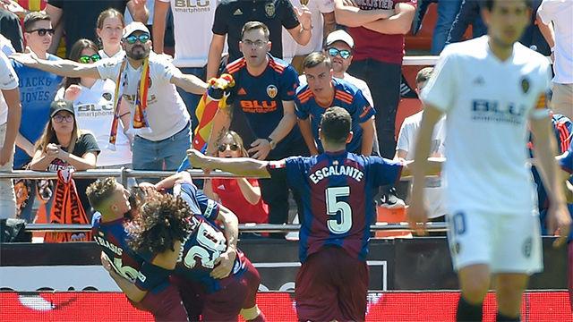 El Eibar amarga el acceso a la Champions del Valencia