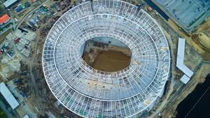 El estadio de Nizhni Nóvgorod acoge seis partidos del Mundial de Rusia 2018