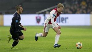 Frenkie de Jong, durante el partido de Copa ante el Heerenveen