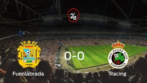 El Fuenlabrada, campeón de Segunda División B tras empatar frente al Racing (0-0)