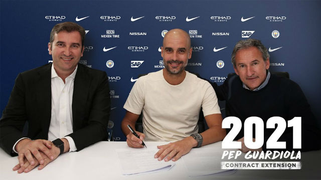 Guardiola renueva con el Manchester City hasta 2021