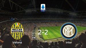 El Hellas Verona empata ante el Inter (2-2)