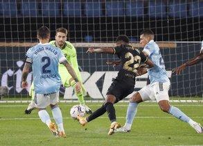 Imágenes del partido entre el Celta de Vigo y el FC Barcelona de la cuarta jornada de LaLiga Santander, disputado en el estadio de Balaídos en Vigo.