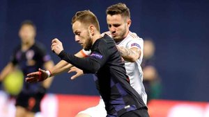 Iván Rakitic, jugador del FC Barcelona, se llevó la victoria este jueves en el Croacia-España de la UEFA National League