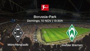 Jornada 11 de la Bundesliga: previa del duelo Borussia Mönchengladbach - Werder Bremen