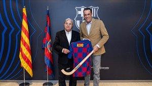 Josep Ramon Vidal-Abarca (Barça) ¿¿y Josep Vigueras (Reno) han oficializado el acuerdo