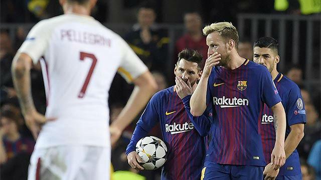 LACHAMPIONS | FC Barcelona - Roma (4-1): Rakitic estrelló otro balón en el poste