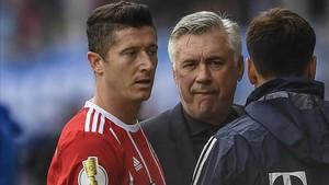 Lewandowski guarda mal recuerdo de Ancelotti