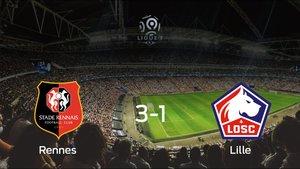 El Lille cae ante el Rennes (3-1)
