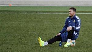 Lionel Messi volvió a los entrenamientos de la selección de Argentina