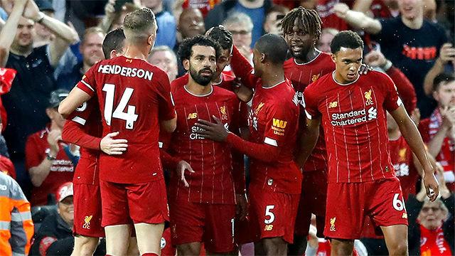 Locura en Alfield: siete goles y el Liverpool sufre para ganar al Salzburgo