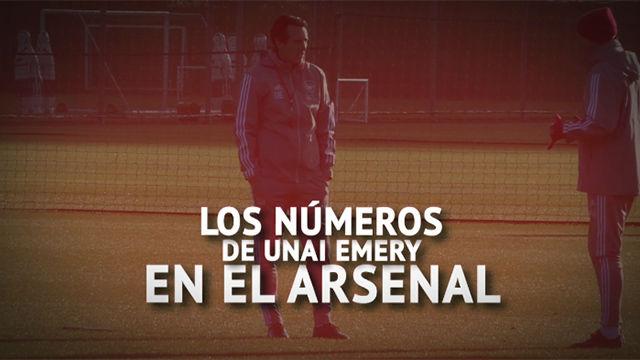 Los números de Emery en el Arsenal