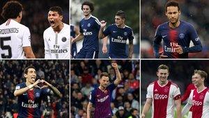 Marquinhos, Thiago Silva, Rabiot, Verratti, Neymar, Di María, Rakitic, De Ligt, De Jong... Jugadores, todos ellos, involucrados en los mercados entre el FC Barcelona y el PSG durante los últimos años