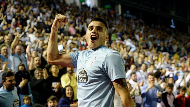 Maxi Gómez adelantó al Celta con un gol de auténtico killer