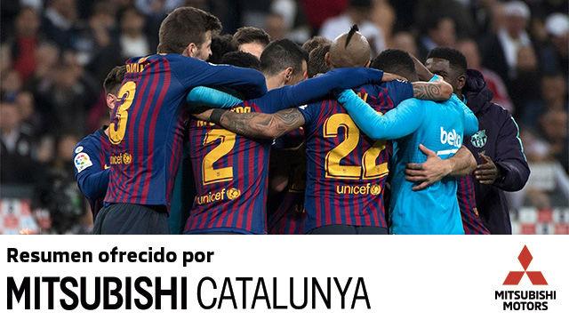Lo mejor del triunfo del Barça en el Santiago Bernabéu