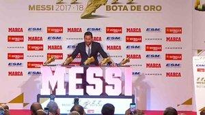 Messi, con las cinco Botas de Oro