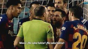 Messi defendió a Dembélé ante Mateu