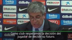 Mestre: Hablaremos internamente con Piqué y Umtiti cuando vuelvan del Mundial