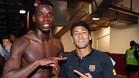 Neymar junto a Pogba