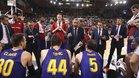 Pesic arenga a sus jugadores durante el partido del Zaragoza