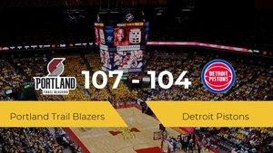 Portland Trail Blazers se impone por 107-104 frente a Detroit Pistons