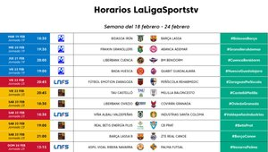 La programación de LaLigaTV del 18 al 24 de febrero en SPORT.es