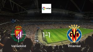 Real Valladolid and Villarreal ended the game with a 1-1 draw at José Zorrilla