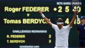 Roger Federer, el segundo finalista más viejo de la historia de Wimbledon