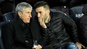 Setién, protagonista en el Camp Nou