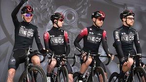 El Team INEOS en el inicio del Tour de Yorkshire