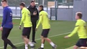 Último entrenamiento del Barça antes de enfrentarse al Leganés en Copa del Rey