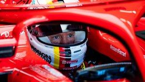 Vettel, el viernes al volante del Ferrari