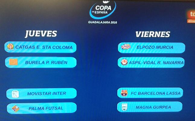 Sorteo Copa de España: FC Barcelona-Magna Gurpea, en cuartos de final