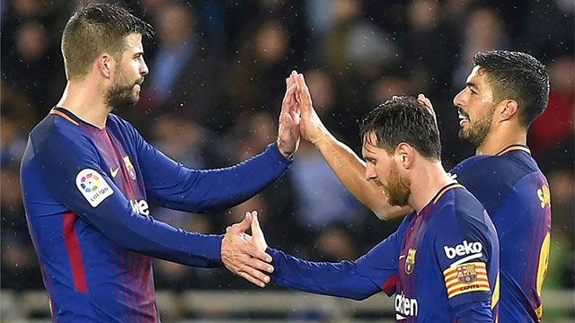 La alineación del FC Barcelona contra el Betis