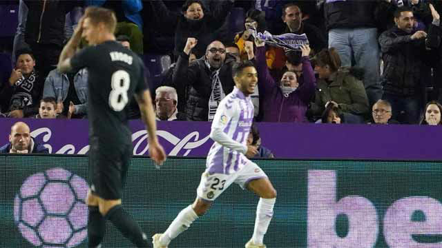 Anuar metió miedo al Madrid adelantando al Valladolid en el marcador