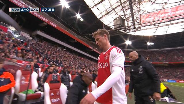 Así fue la jugada en la que se lesionó Frenkie De Jong