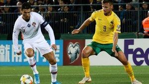 Cristiano marcó cuatro goles ante Lituania