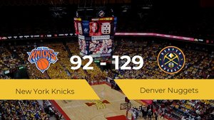 Denver Nuggets logra derrotar a New York Knicks en el Madison Square Garden (92-129)
