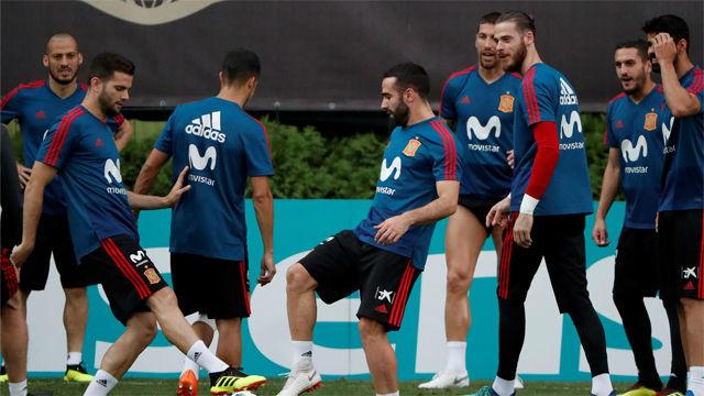 España prepara en Krasnodar el partido frente a Marruecos