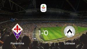 La Fiorentinasuma tres puntos más frente al Udinese (1-0)