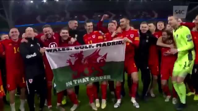 Gales, Golf, Madrid... en ese orden. Bale se burla descaradamente del madridismo en plena celebración