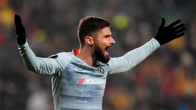 Giroud maquilla el partido del Chelsea en Hungría
