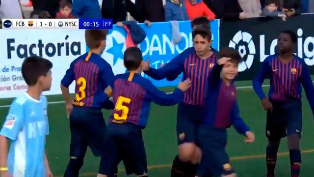 ¿El gol más rápido del MIC? 11 segundos ha tardado el Barça en abrir el marcador