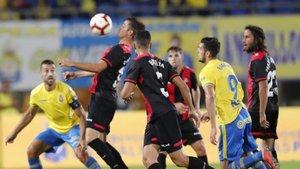 Imagen del partido de la primera vuelta entre Las Palmas y Reus
