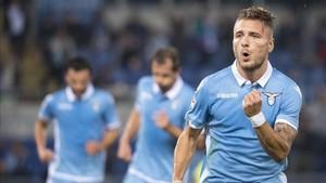 Immobile, que marcó el sábado cuatro goles, es el mejor goleador en Europa